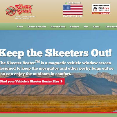 The Skeeter Beater Responsive Bootstrap Website