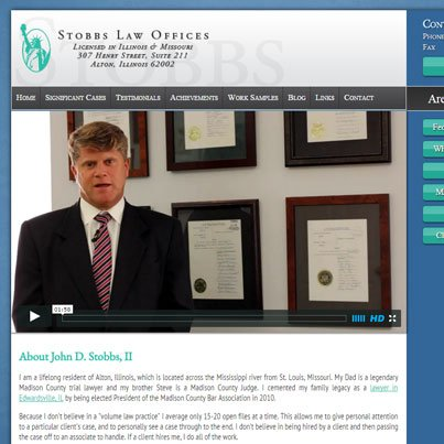 Stobbs Law Offices Professional, clean branding and responsive website layout