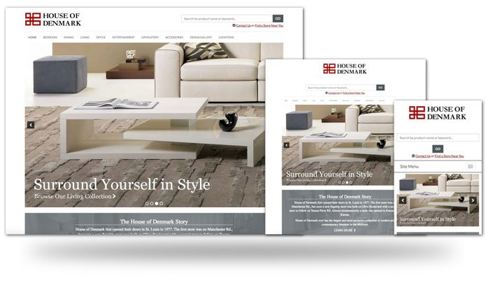House of Denmark Responsive Sites