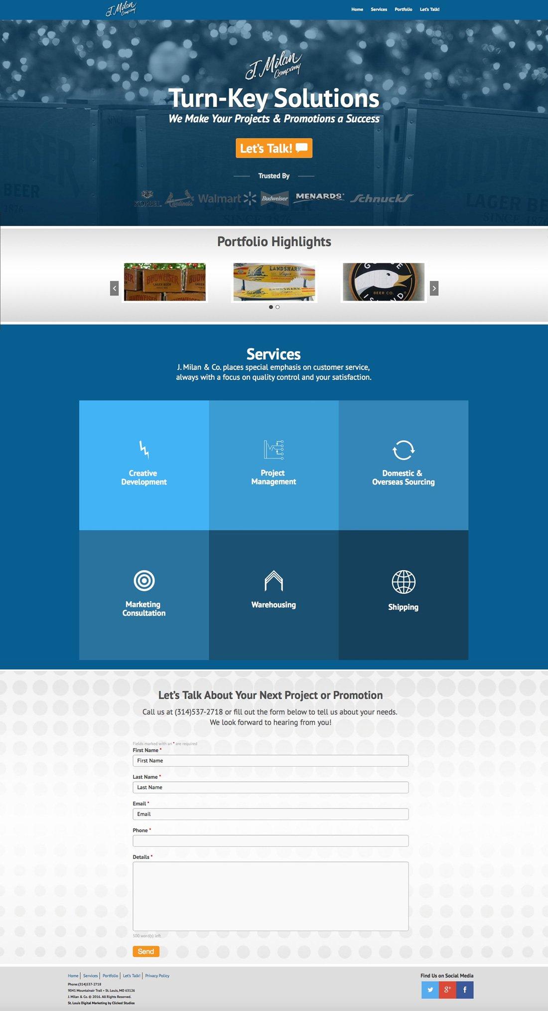 J. Milan & Co. New Branding Design