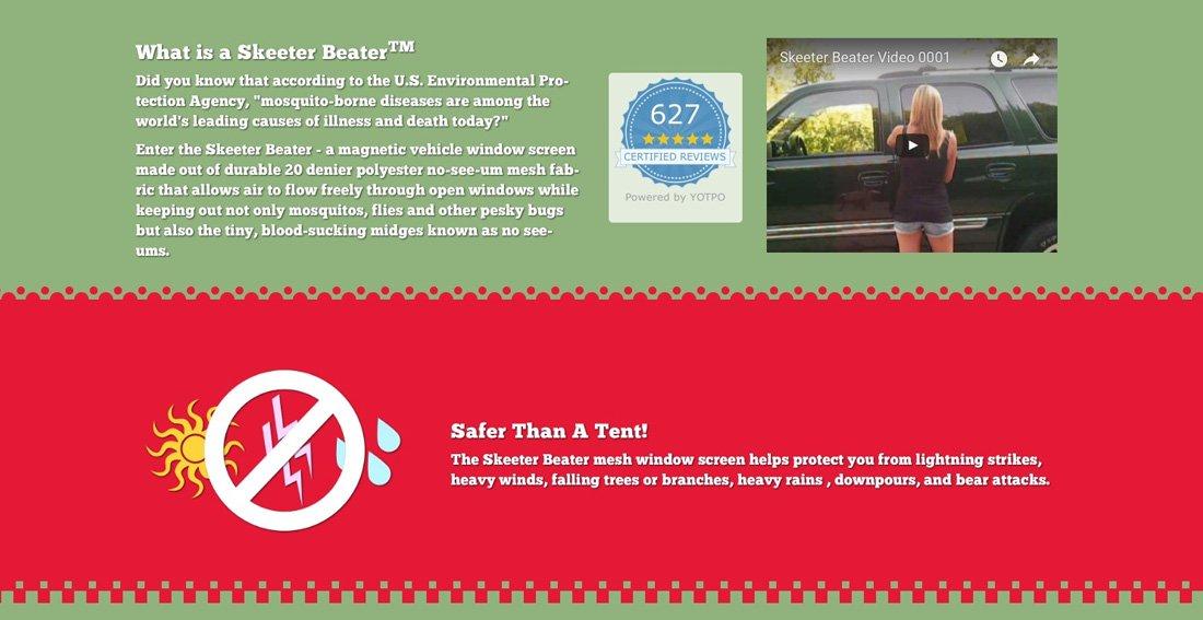 Skeeter Beater Info Tab Design
