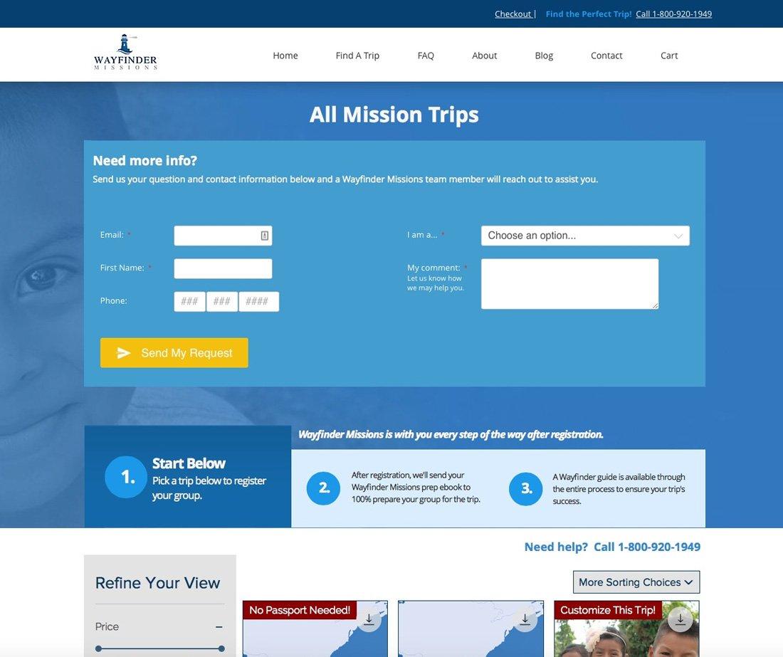 Wayfinder Trip Page